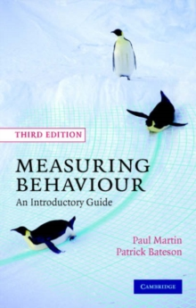 Measuring Behaviour : An Introductory Guide, Paperback / softback Book