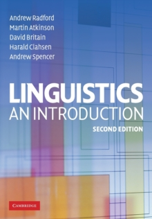 Linguistics : An Introduction, Paperback Book