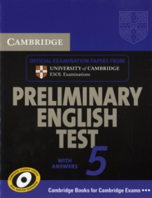 PET Practice Tests : Cambridge Preliminary English Test 5 Student's Book with answers, Paperback / softback Book