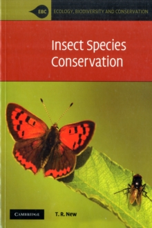 Insect Species Conservation, Paperback / softback Book