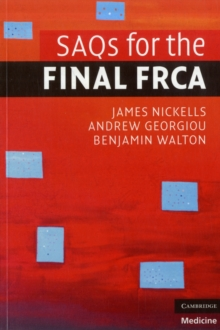 SAQs for the Final FRCA, Paperback Book