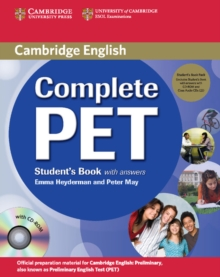 Complete : Complete PET Student's Book Pack (Student's Book with answers with CD-ROM and Audio CDs (2)), Mixed media product Book