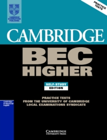 BEC Practice Tests : Cambridge BEC Higher 1: Practice Tests from the University of Cambridge Local Examinations Syndicate, Paperback / softback Book