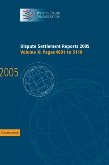 Dispute Settlement Reports 2005, Hardback Book