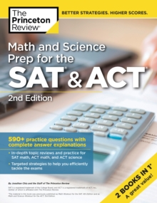 Math and Science Prep for the SAT and ACT, Paperback Book