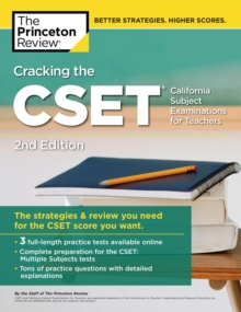Cracking the CSET (California Subject Examinations for Teachers), Paperback / softback Book
