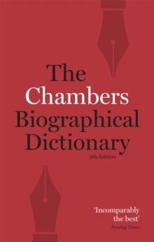 Chambers Biographical Dictionary Paperback, Paperback Book