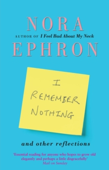 I Remember Nothing and other reflections, Paperback / softback Book