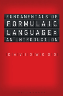 Fundamentals of Formulaic Language : An Introduction, Paperback / softback Book