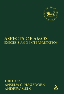 Aspects of Amos : Exegesis and Interpretation, PDF eBook