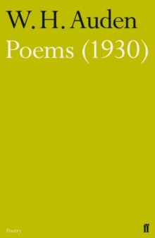 Poems (1930), Paperback Book