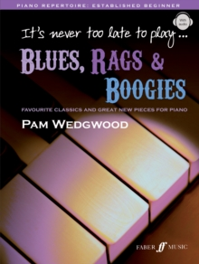It's never too late to play blues, rags & boogies, Mixed media product Book