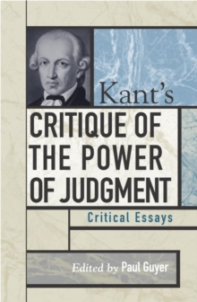 Kant's Critique of the Power of Judgment : Critical Essays, EPUB eBook