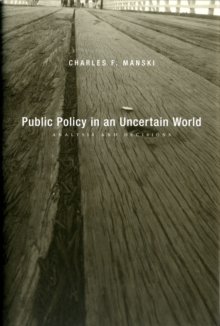 Public Policy in an Uncertain World : Analysis and Decisions, Hardback Book