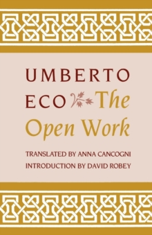 The Open Work, Paperback / softback Book
