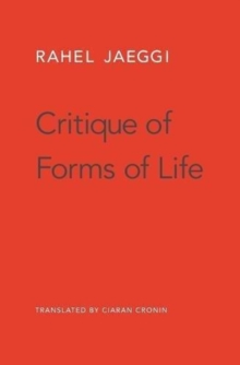 Critique of Forms of Life, Hardback Book