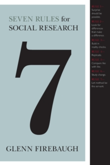Seven Rules for Social Research, Paperback / softback Book