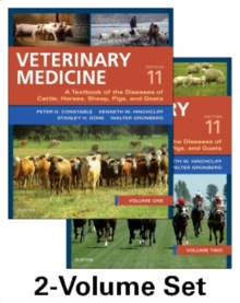 Veterinary Medicine : A textbook of the diseases of cattle, horses, sheep, pigs and goats - two-volume set, Hardback Book