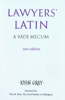 Lawyer's Latin, Hardback Book