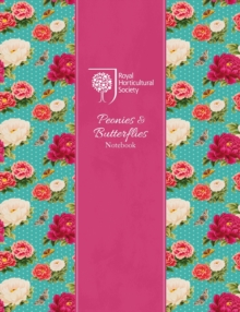 RHS Peonies and Butterflies Notebook (Silver), Hardback Book