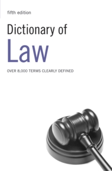 Dictionary of Law, Paperback Book