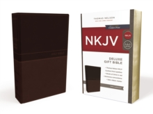 NKJV, Deluxe Gift Bible, Leathersoft, Tan, Red Letter Edition, Comfort Print, Leather / fine binding Book