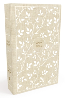 NKJV, Thinline Bible, Standard Print, Cloth over Board, White/Tan, Red Letter Edition, Comfort Print, Hardback Book