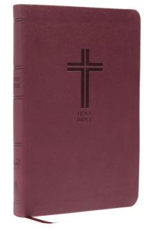 NKJV, Value Thinline Bible, Standard Print, Imitation Leather, Burgundy, Red Letter Edition, Comfort Print, Leather / fine binding Book