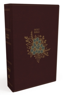 NKJV, Thinline Bible, Leathersoft, Burgundy, Red Letter Edition, Comfort Print : Holy Bible, New King James Version, Leather / fine binding Book