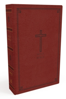 NKJV, Thinline Bible, Standard Print, Imitation Leather, Red, Red Letter Edition, Comfort Print, Leather / fine binding Book
