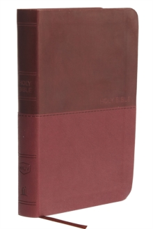 NKJV, Value Thinline Bible, Compact, Imitation Leather, Burgundy, Red Letter Edition, Comfort Print, Leather / fine binding Book
