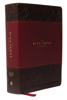 KJV, The King James Study Bible, Imitation Leather, Burgundy, Indexed, Full-Color Edition, Leather / fine binding Book