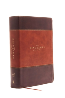 KJV, The King James Study Bible, Leathersoft, Brown, Thumb Indexed, Red Letter, Full-Color Edition : Holy Bible, King James Version, Leather / fine binding Book