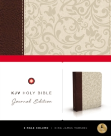 KJV, Holy Bible, Journal Edition, Imitation Leather, Brown/Cream, Red Letter Edition, Paperback Book