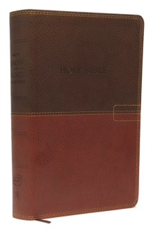 NKJV, Know The Word Study Bible, Imitation Leather, Brown/Caramel, Red Letter Edition : Gain a greater understanding of the Bible book by book, verse by verse, or topic by topic, Leather / fine binding Book