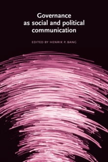 Governance as Social and Political Communication, Paperback Book