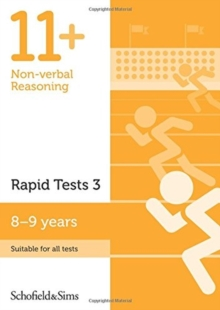11+ Non-verbal Reasoning Rapid Tests Book 3: Year 4, Ages 8-9, Paperback Book