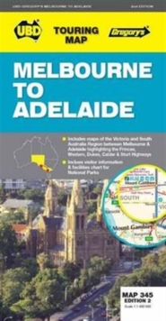 Melbourne to Adelaide Map 345 2nd ed, Sheet map, folded Book