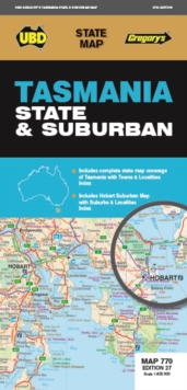 Tasmania State & Suburban Map 770 27th ed, Sheet map, folded Book