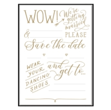 Cheree Berry Love Lettering Save the Date Notecards, Cards Book