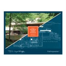 Frank Lloyd Wright Fallingwater 2-sided 500 Piece Puzzle, Jigsaw Book