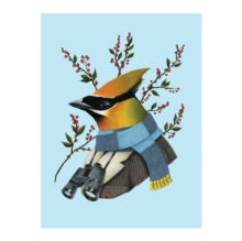 Berkley Bestiary Winter Waxwing Large Embellished Holiday Notecards, Cards Book