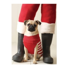 Pug Elf Holiday Half Notecard, Cards Book
