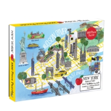 New York City Map 1000 Piece Puzzle, Jigsaw Book