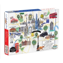 London Map 1000 Piece Puzzle, Jigsaw Book