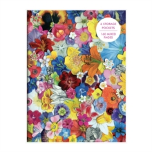 Flowers PVC Multi-Pocket Cover Journal, Notebook / blank book Book