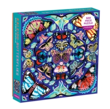 Kaleido-Butterflies 500 Piece Family Puzzle, Jigsaw Book