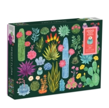 Desert Flora 1000 Piece Puzzle with Shaped Pieces, Jigsaw Book