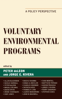 Voluntary Environmental Programs : A Policy Perspective, EPUB eBook
