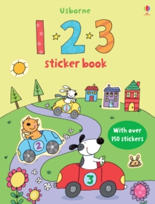 123 Sticker Book, Paperback Book